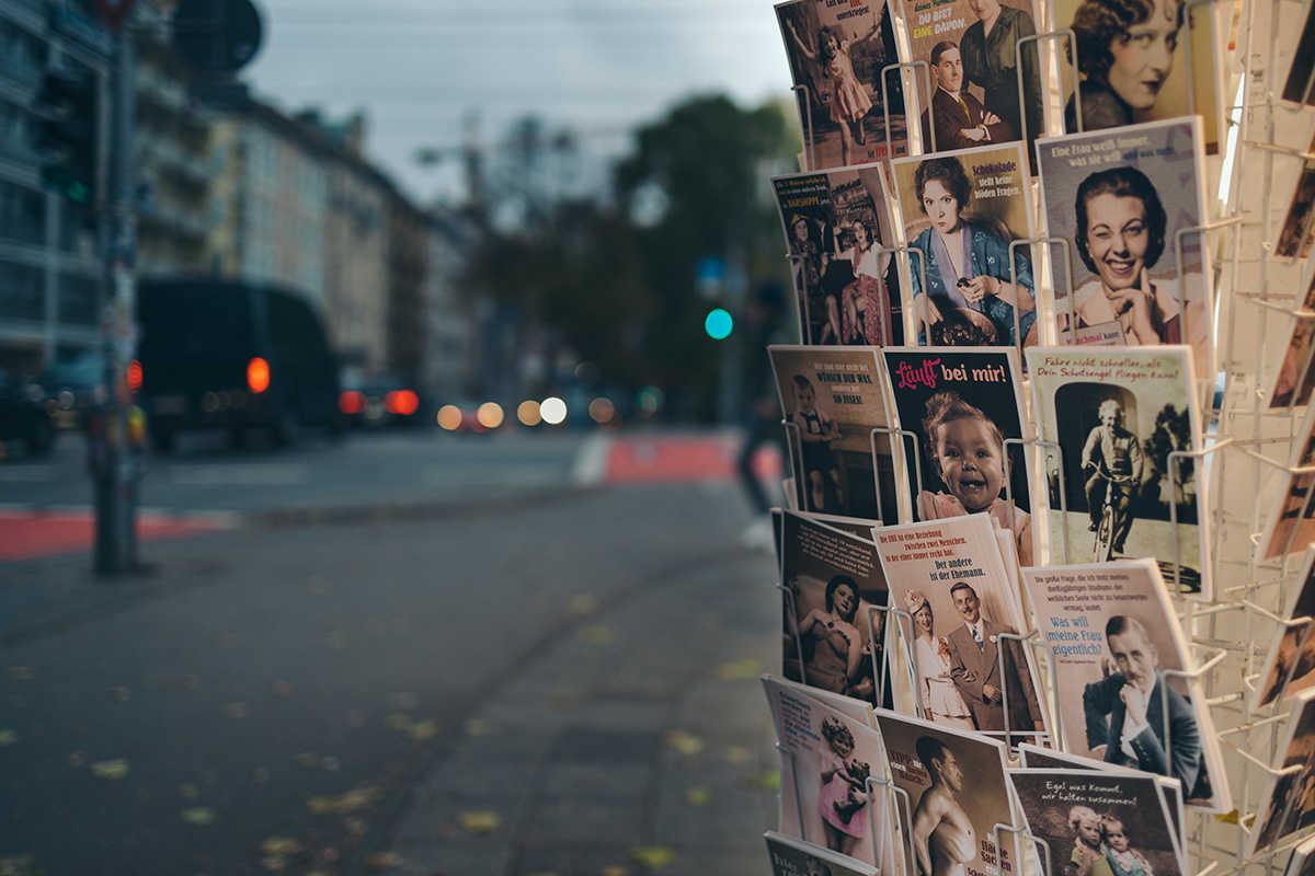 Sprüche-Postkarten von uns