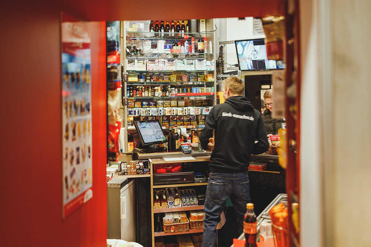 Sicht in den Kiosk